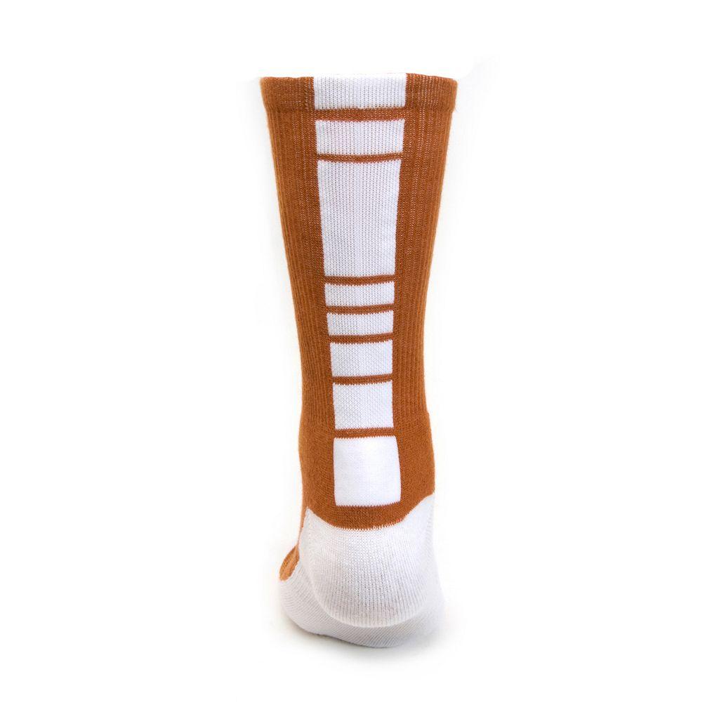 Men's Mojo Texas Longhorns Champ 1/2-Cushion Performance Crew Socks