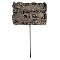 Happiness Grows In Our Garden Outdoor Garden Marker