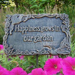 Happiness Grows In Our Garden Outdoor Garden Marker