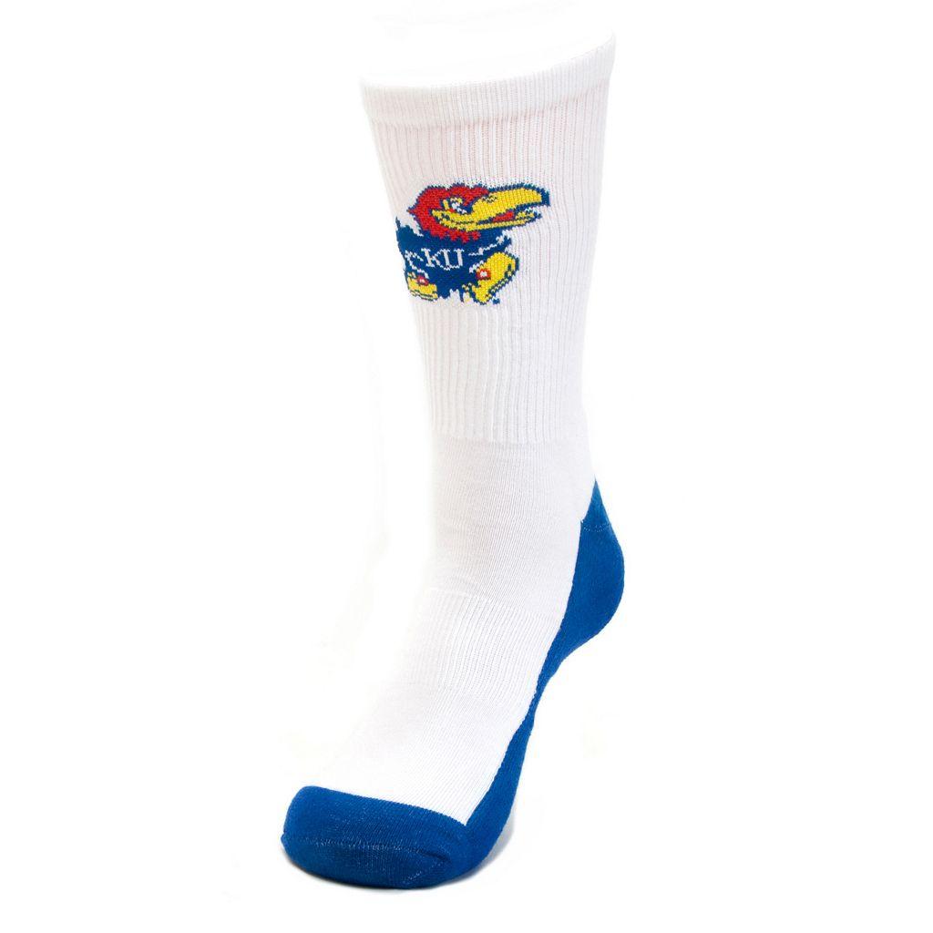 Women's Mojo Kansas Jayhawks Champ 1/2-Cushion Performance Crew Socks