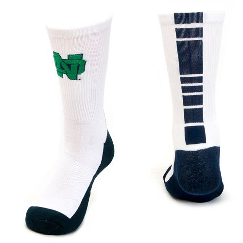 Women's Mojo Notre Dame Fighting Irish Champ 1/2-Cushion Performance Crew Socks