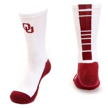 Women's Mojo Oklahoma Sooners Champ 1/2-Cushion Performance Crew Socks