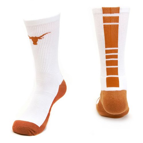 Women's Mojo Texas Longhorns Champ 1/2-Cushion Performance Crew Socks