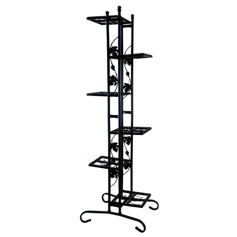 6-Tier Plant Stand, Black