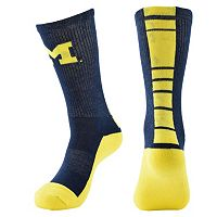 Women's Mojo Michigan Wolverines Champ 1/2-Cushion Performance Crew Socks