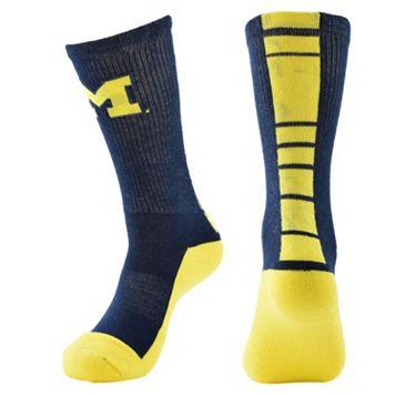 Women's Mojo Michigan Wolverines Champ 1/2-Cushion Performance Crew Socks