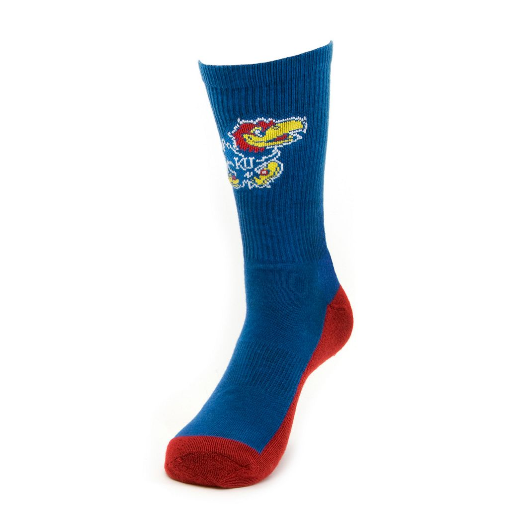 Women's Mojo Kansas Jayhawks Champ 1/2-Cushion Performance Crew Socks