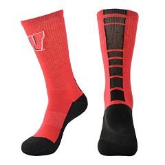 Women's Mojo Wisconsin Badgers Champ 1/2-Cushion Performance Crew Socks