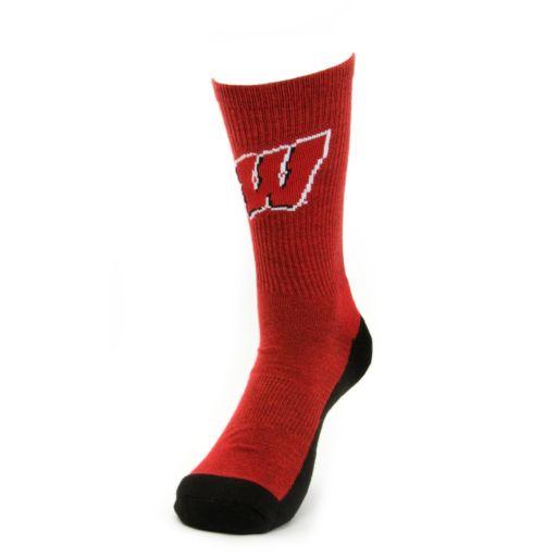 Women's Mojo Wisconsin Badgers Champ 1/2-Cushion Performance Crew Socks