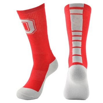Women's Mojo Ohio State Buckeyes Champ 1/2-Cushion Performance Crew Socks