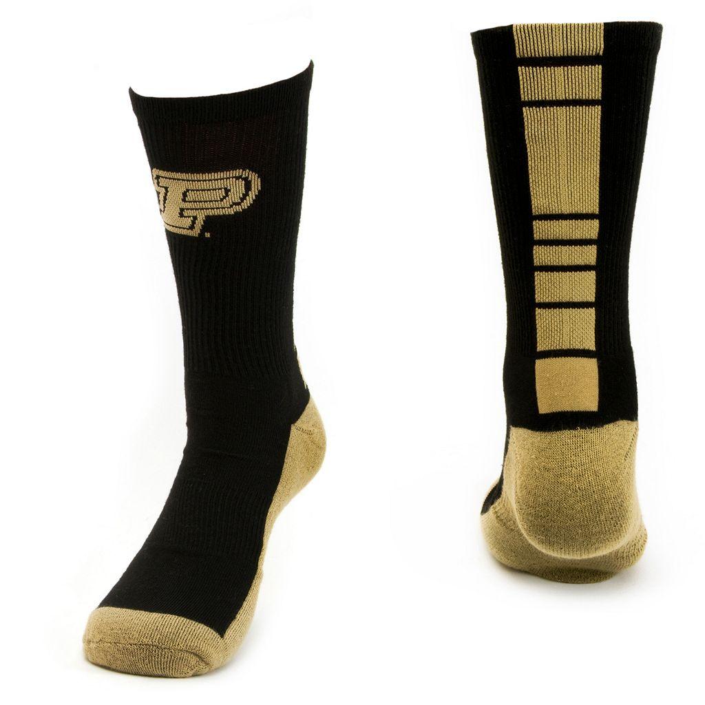 Women's Mojo Purdue Boilermakers Champ 1/2-Cushion Performance Crew Socks