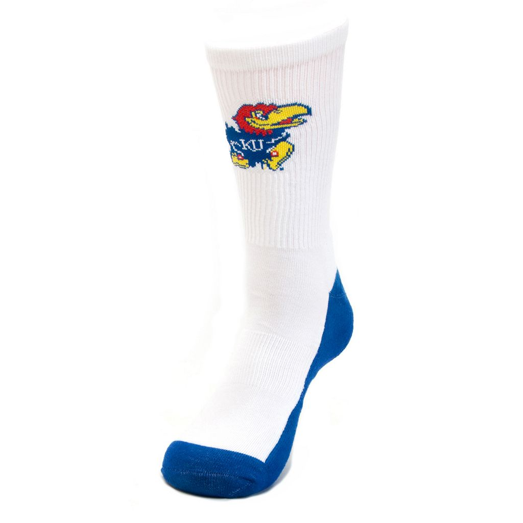 Youth Mojo Kansas Jayhawks Champ 1/2-Cushion Performance Crew Socks