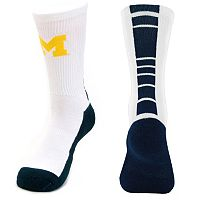 Youth Mojo Michigan Wolverines Champ 1/2-Cushion Performance Crew Socks