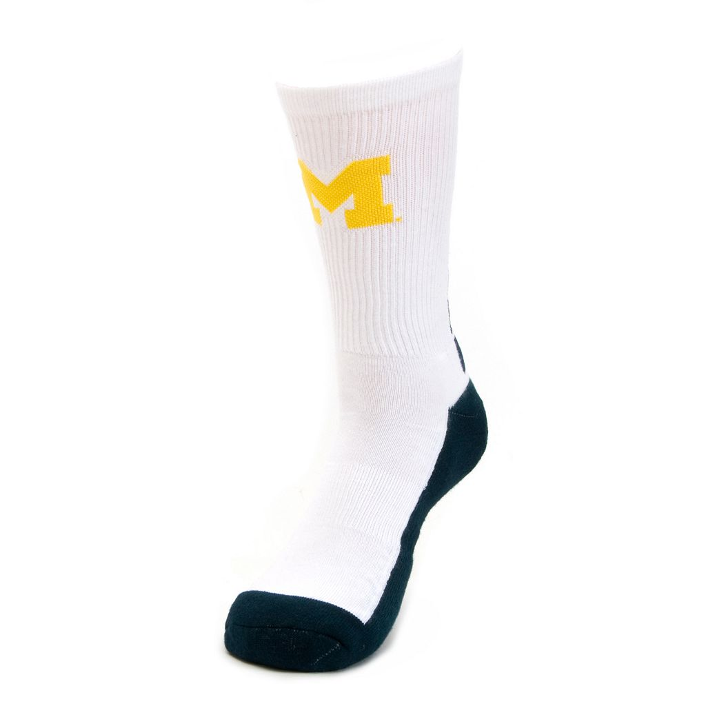 Youth Mojo Michigan Wolverines Champ 1/2-Cushion Performance Crew Socks