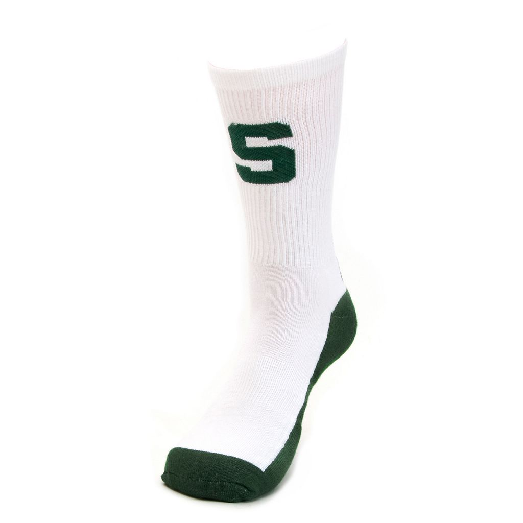 Youth Mojo Michigan State Spartans Champ 1/2-Cushion Performance Crew Socks