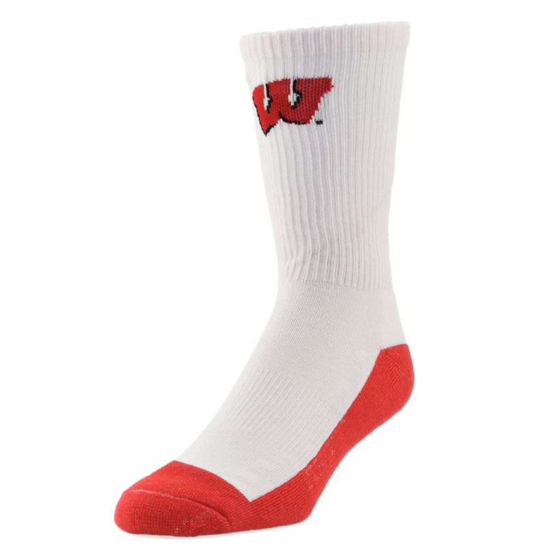 seven casual adult sock brand crew white