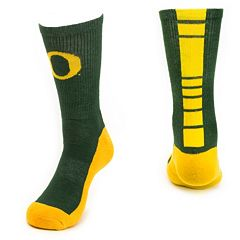Youth Mojo Oregon Ducks Champ 1/2-Cushion Performance Crew Socks