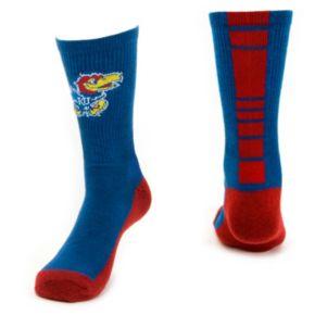 Youth Mojo Kansas Jayhawks Champ 1/2-Cushion Performance Crew Socks