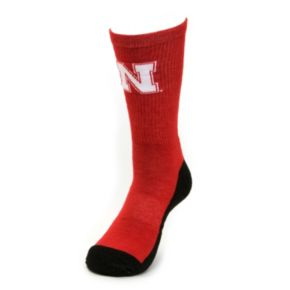 Youth Mojo Nebraska Cornhuskers Champ 1/2-Cushion Performance Crew Socks