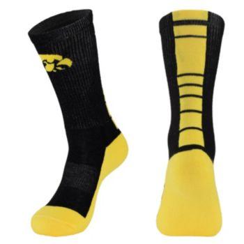 Youth Mojo Iowa Hawkeyes Champ 1/2-Cushion Performance Crew Socks