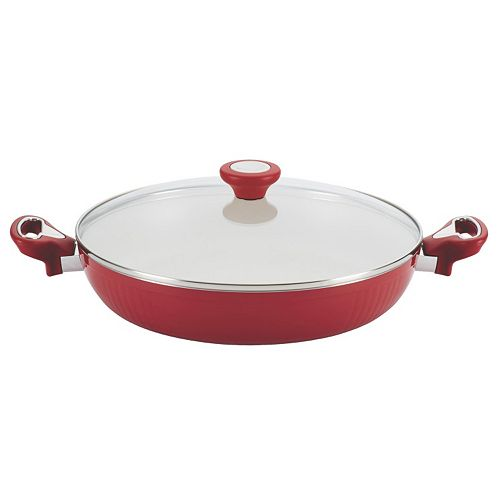 Farberware New Traditions 12-in. Nonstick Covered Deep Skillet