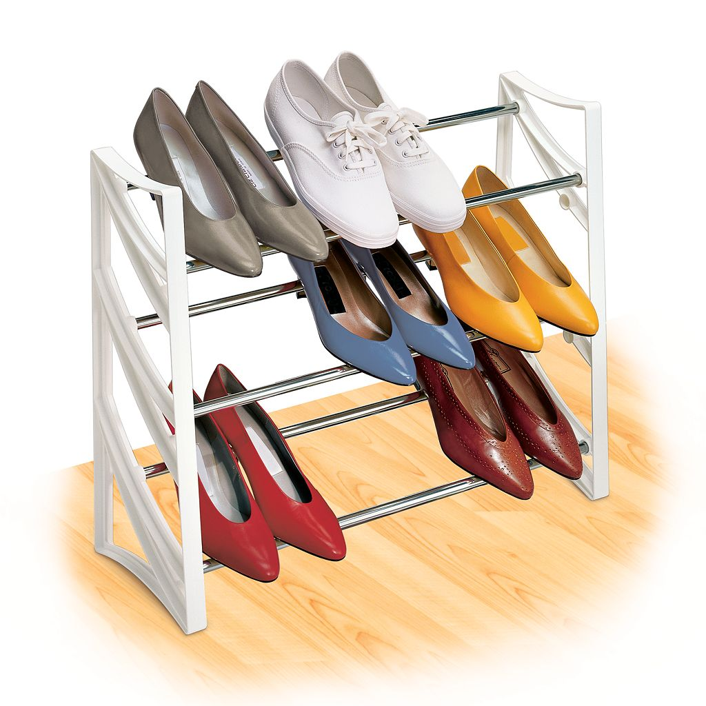 Lynk® 9-Pair Convertible Shoe Rack
