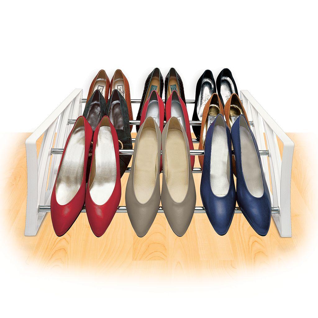 Lynk 9-Pair Convertible Shoe Rack