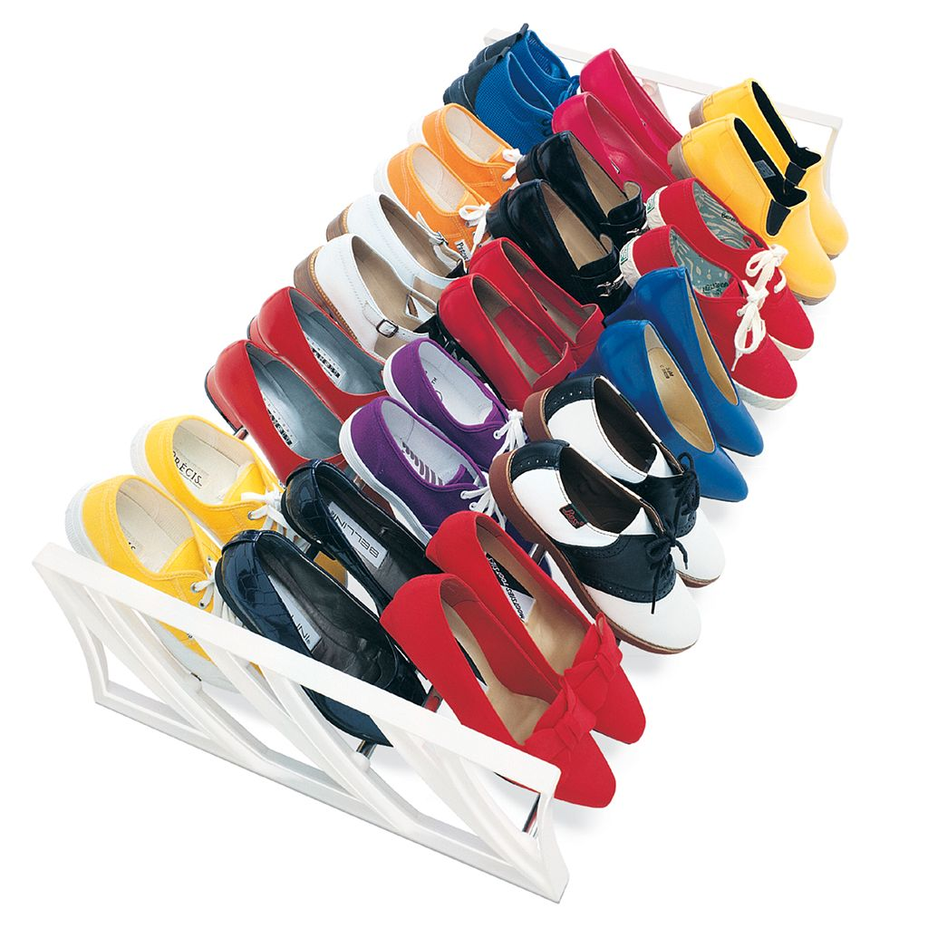 Lynk 15-Pair Convertible Shoe Rack