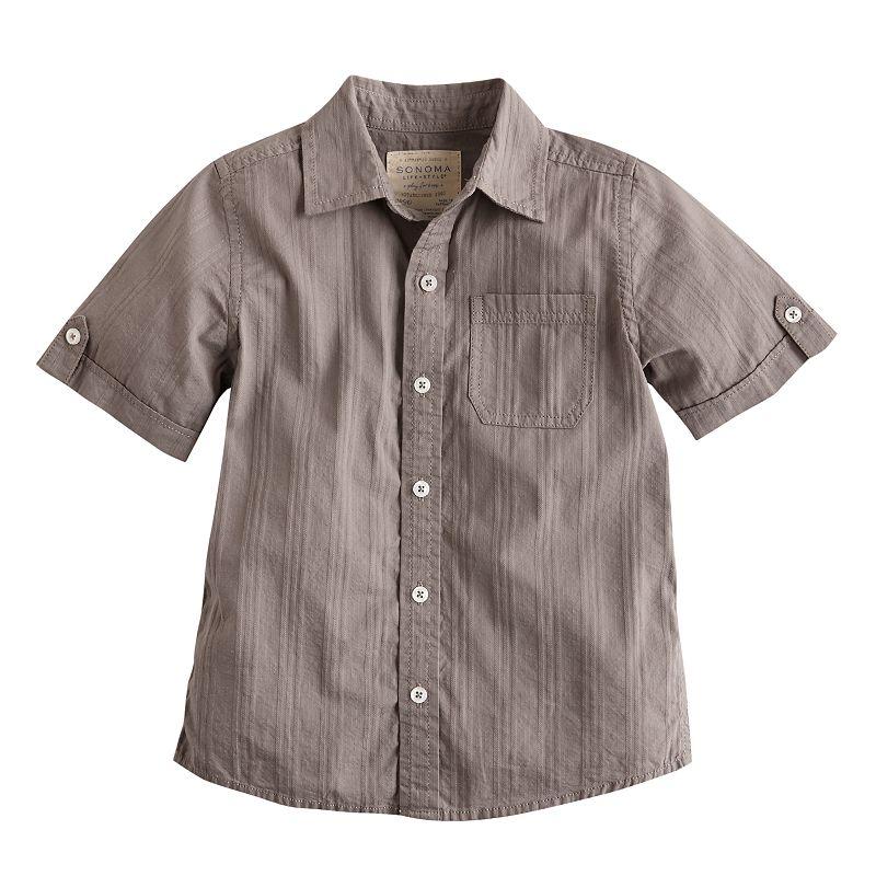 SONOMA life + style Button-Down Camp Shirt - Boys 4-7x