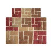 Chesapeake Berkeley Bricks Tufted 2-pc. Bath Rug Set