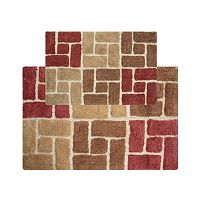 Chesapeake Berkeley Bricks Tufted 2-pc. Bath Rug Set