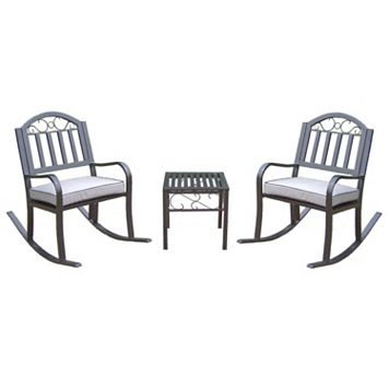Rochester Padded Rocking Chair 3-piece Set
