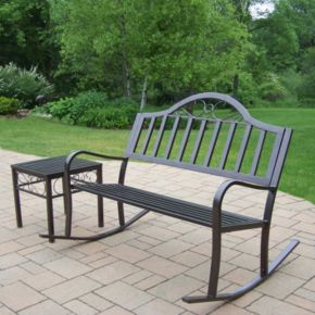 Rochester Rocking Bench 2-piece Set