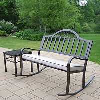 Rochester Outdoor Rocking Bench 3-piece Set