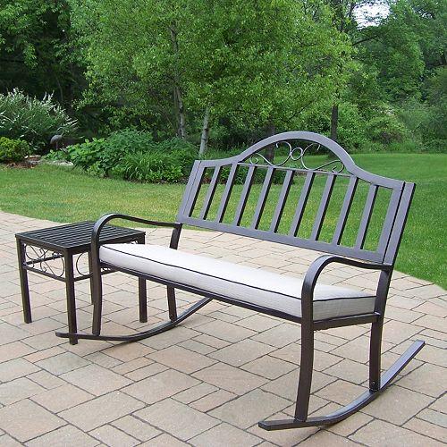 Rochester Outdoor Rocking Bench 3-piece Set
