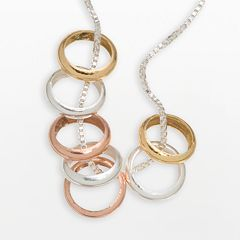 Sterling Silver 7-Ring Necklace