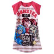 Monster High Stripe Dorm Nightgown - Girls