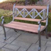 Triple Cross Outdoor Bench