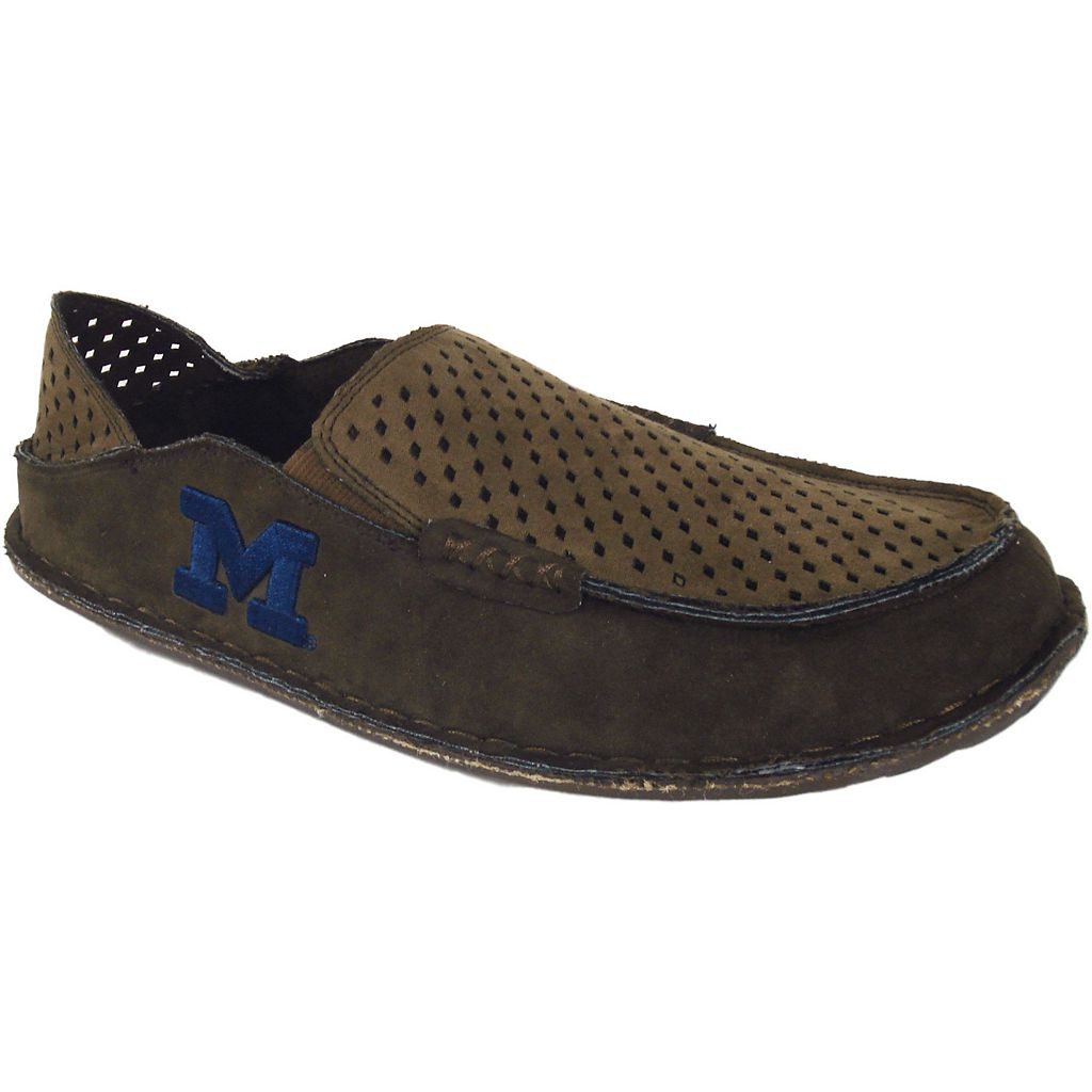 Men's Michigan Wolverines Cayman Perforated Moccasin