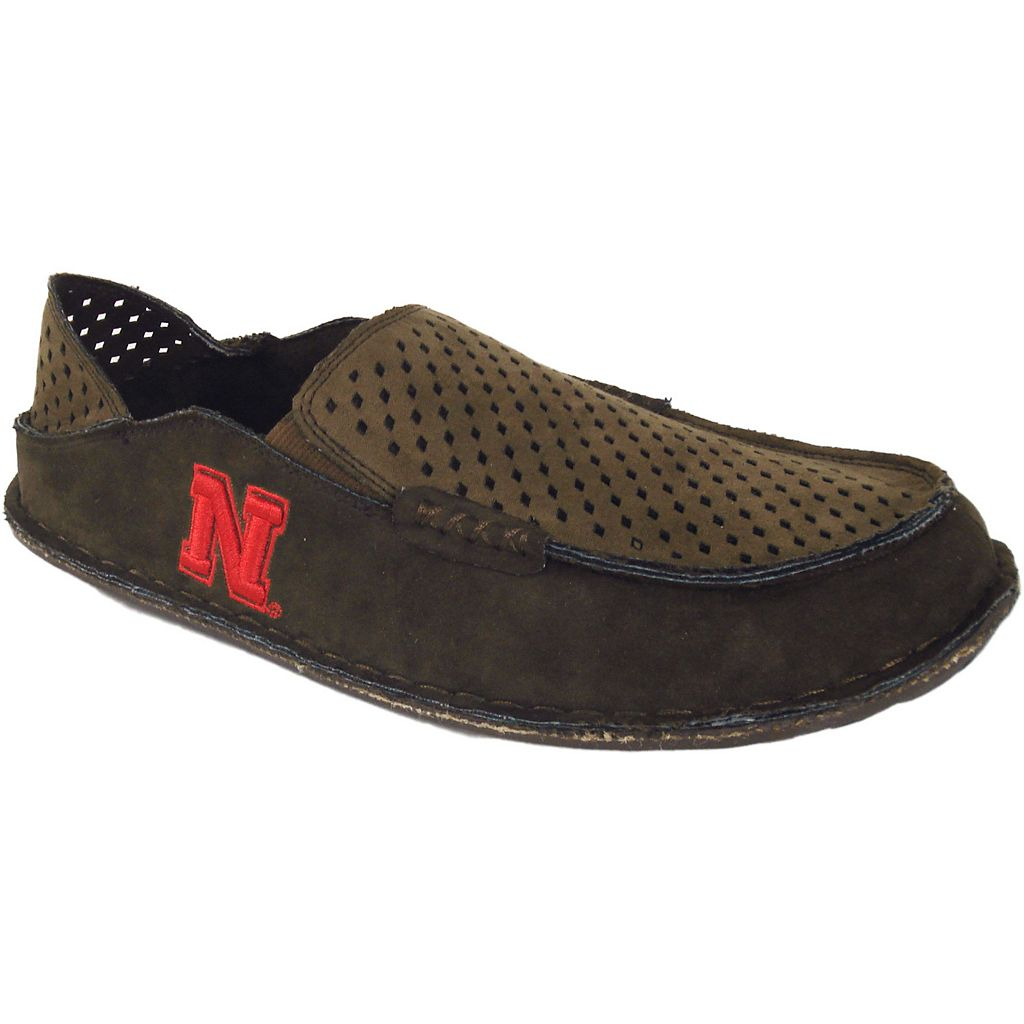 Men's Nebraska Cornhuskers Cayman Perforated Moccasin