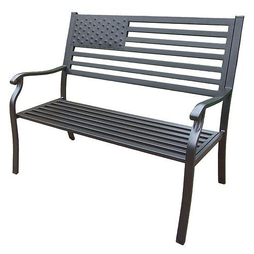 American Pride US Flag Outdoor Bench