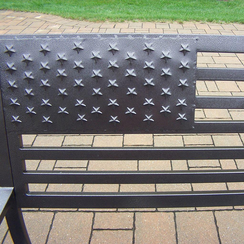 American Pride US Flag Outdoor Bench