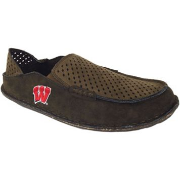 Men's Wisconsin Badgers Cayman Perforated Moccasin