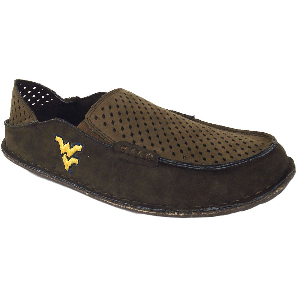 Men's West Virginia Mountaineers Cayman Perforated Moccasin