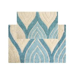 Chesapeake Davenport Wave Tufted 2-pc. Bath Rug Set