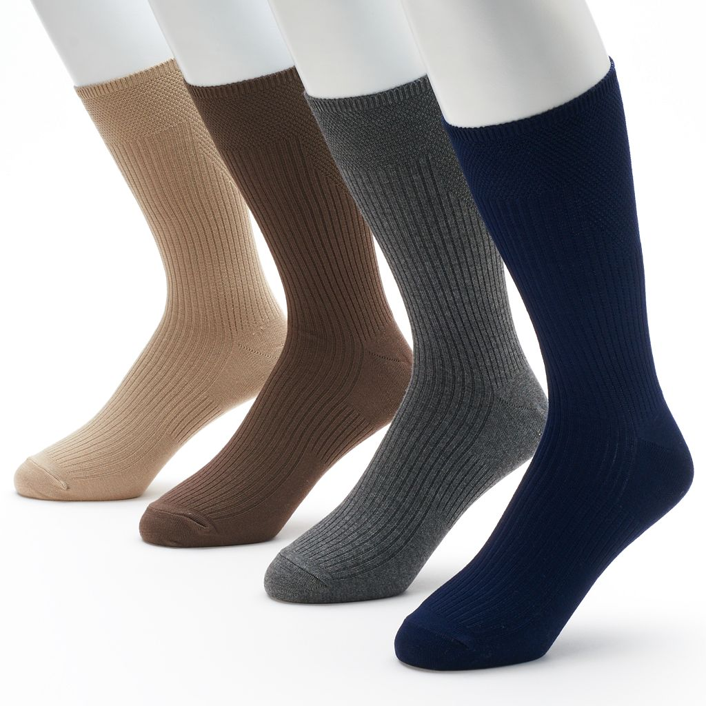 Men's Croft & Barrow® 4-pk. Opticool Dress Socks