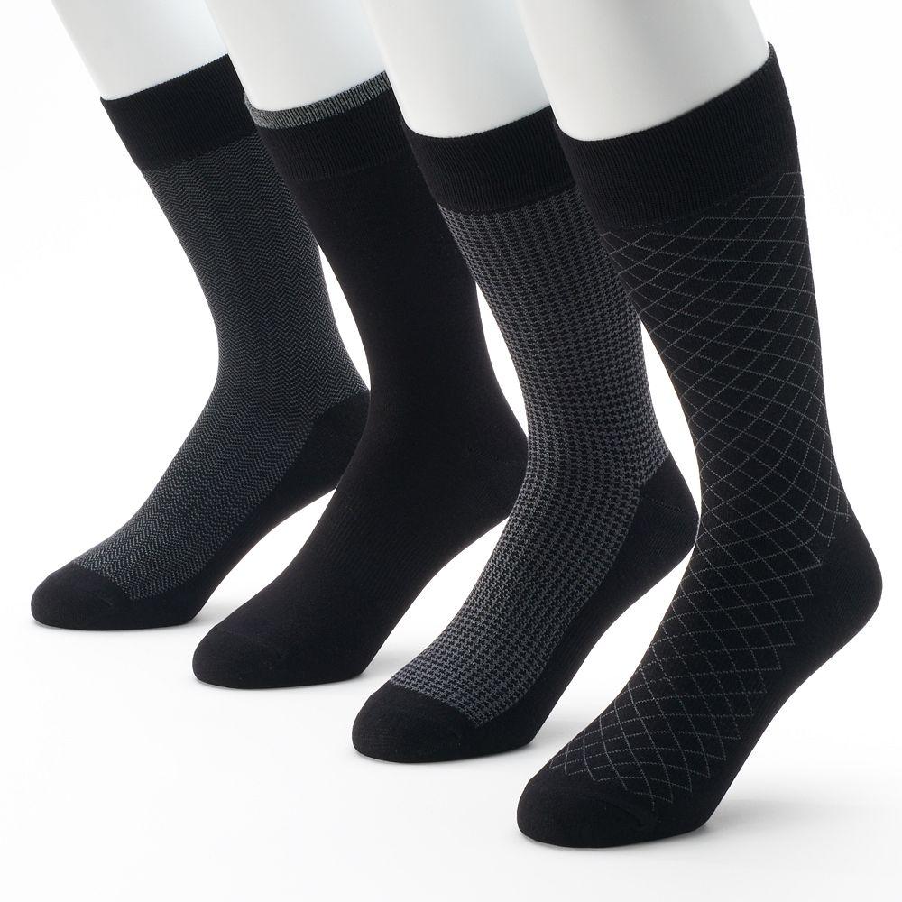 Men's Croft & Barrow® 4-pk. Opticool Herringbone Dress Socks