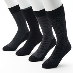 Men's Croft & Barrow® 4-pk. Opticool Herringbone Dress Socks