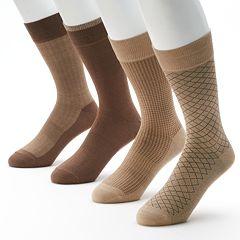 Men's Croft & Barrow® 4 pkOpticool Herringbone Dress Socks