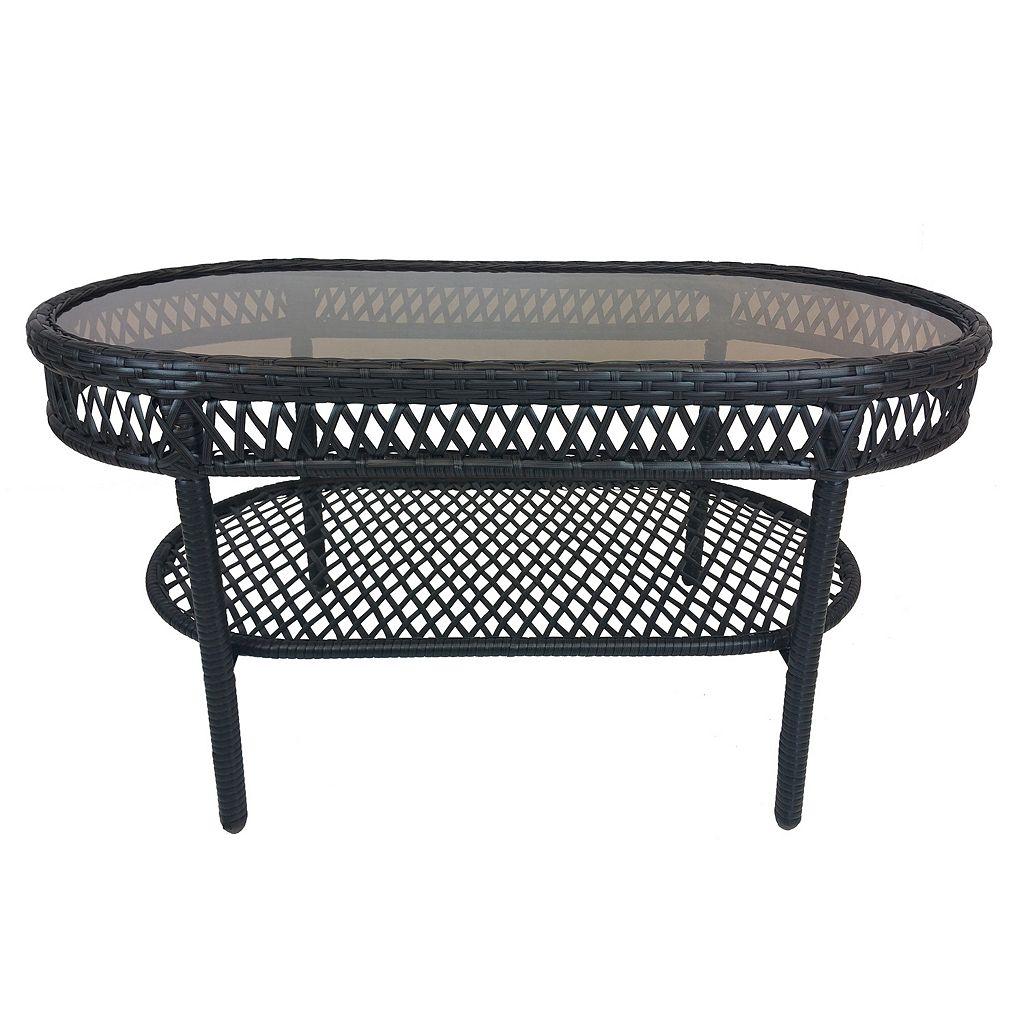 Elite Resin Wicker Outdoor Coffee Table